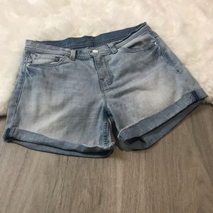 Calvin Klein White Label Cuffed Light Wash Shorts